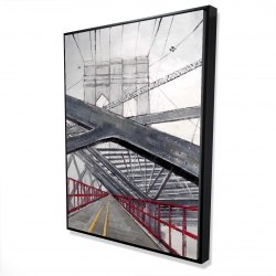 Framed 36 x 48 - 3D - Under the brooklyn bridge