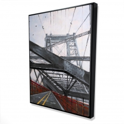 Framed 36 x 48 - 3D - Bridge architecture