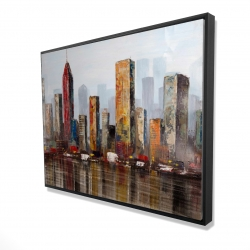 Framed 36 x 48 - 3D - Rust looking city