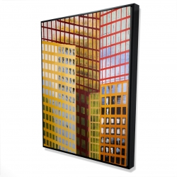 Framed 36 x 48 - 3D - Skyscrapers
