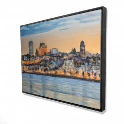 Framed 36 x 48 - 3D - Skyline of quebec city
