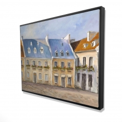 Framed 36 x 48 - 3D - Old quebec city