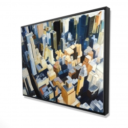 Framed 36 x 48 - 3D - High top view of buildings in new york