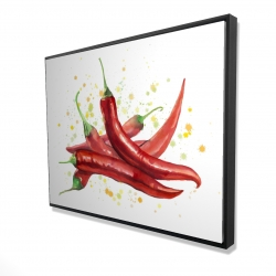 Framed 36 x 48 - 3D - Red hot peppers