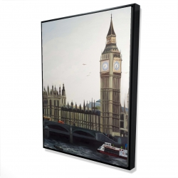 Framed 36 x 48 - 3D - Big ben clock elizabeth tower in london
