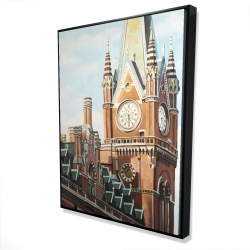 Framed 36 x 48 - 3D - St-pancras station in london