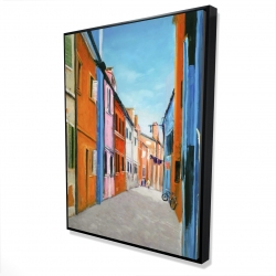 Framed 36 x 48 - 3D - Colorful houses in italy