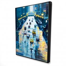 Framed 36 x 48 - 3D - Rainy streets of new york