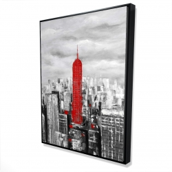 Framed 36 x 48 - 3D - Empire state building of new york