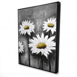 Framed 36 x 48 - 3D - Daisies at sun