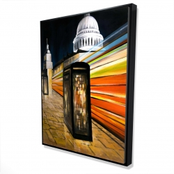 Framed 36 x 48 - 3D - Fast london bus