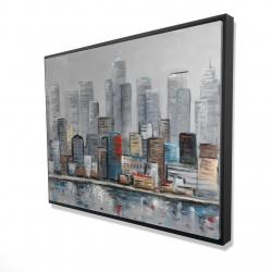 Framed 36 x 48 - 3D - Abstract city skyline