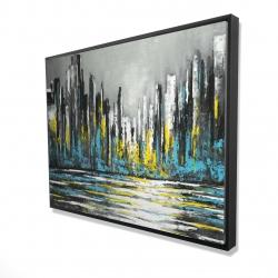 Framed 36 x 48 - 3D - Abstract blue skyline
