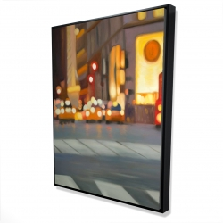 Framed 36 x 48 - 3D - Blurred view of new york