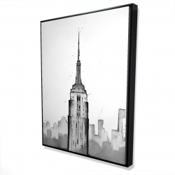 Framed 36 x 48 - 3D - Empire state building
