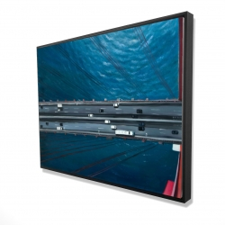 Framed 36 x 48 - 3D - Overhead view of traffic on the golden gate