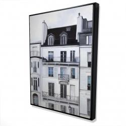 Framed 36 x 48 - 3D - Buildings along the seine river