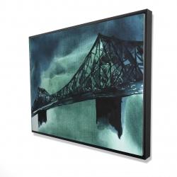 Framed 36 x 48 - 3D - Montreal jacques-cartier bridge