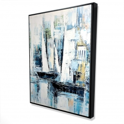 Framed 36 x 48 - 3D - Industrial style boats