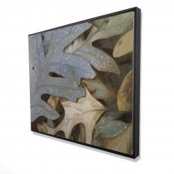 Framed 48 x 60 - 3D - Autumn leaves