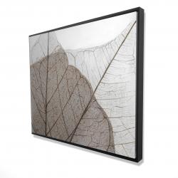 Framed 48 x 60 - 3D - Translucent dried leaves