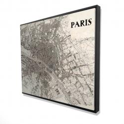 Framed 48 x 60 - 3D - Paris 1