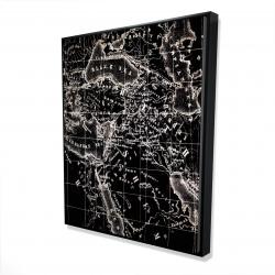 Framed 48 x 60 - 3D - Old maritime maps
