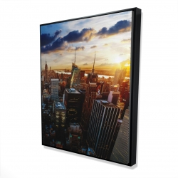 Framed 48 x 60 - 3D - City of new york by dawn