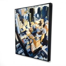 Framed 48 x 60 - 3D - Manhattan view of the empire state building
