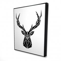 Framed 48 x 60 - 3D - Geometric deer head
