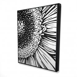 Framed 48 x 60 - 3D - Gerbera flower