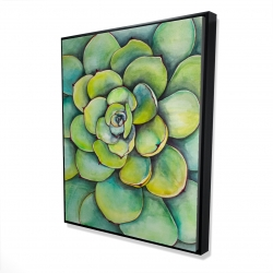 Framed 48 x 60 - 3D - Watercolor succulent plant