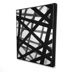 Framed 48 x 60 - 3D - Abstract bold lines