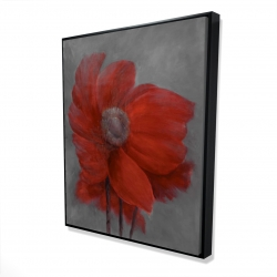 Framed 48 x 60 - 3D - Red flower in the wind
