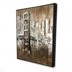 Framed 48 x 60 - 3D - Aged finish golden gate