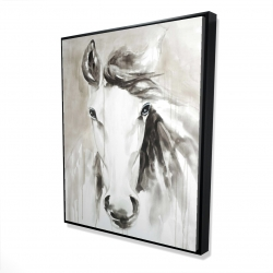 Framed 48 x 60 - 3D - Beautiful abstract horse