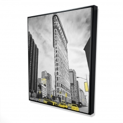Framed 48 x 60 - 3D - Outline of flatiron building to new-york