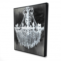 Framed 48 x 60 - 3D - Big glam chandelier