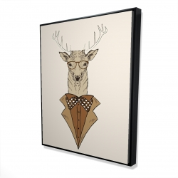 Framed 48 x 60 - 3D -  deer with brown coat