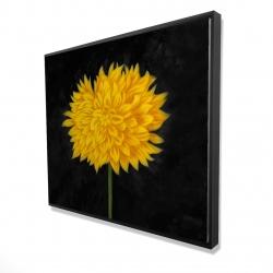 Framed 48 x 60 - 3D - Yellow chrysanthemum