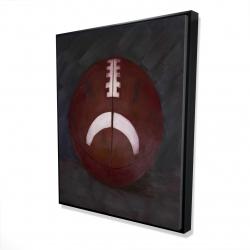 Framed 48 x 60 - 3D - Football ball