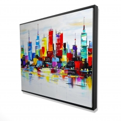 Framed 48 x 60 - 3D - Abstract and colorful city