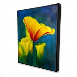 Framed 48 x 60 - 3D - Beautiful colorful flowers