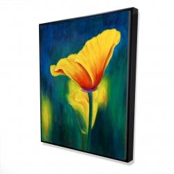 Framed 48 x 60 - 3D - Superb contrast flowers