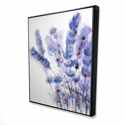 Framed 48 x 60 - 3D - Watercolor lavender flowers