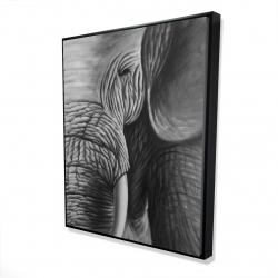 Framed 48 x 60 - 3D - Elephant
