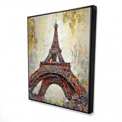 Framed 48 x 60 - 3D - Abstract eiffel tower