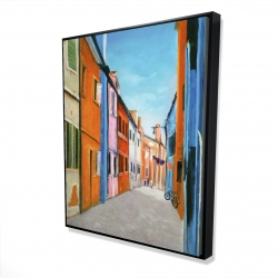 Framed 48 x 60 - 3D - Colorful houses in italy