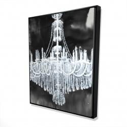 Framed 48 x 60 - 3D - Glam chandelier