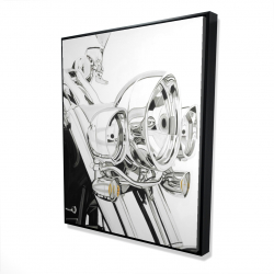 Framed 48 x 60 - 3D - Motorcycle light